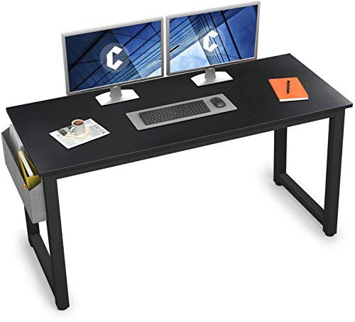 """Cubiker Computer Desk 55"""" Modern Sturdy Office Desk Large Writing Study Table for Home Office with Extra Strong Legs, Black"""