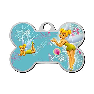 GPZHM Tinker.Bell Pet Tag - Bone Shaped Dog Tag & Cat Tags Pet ID Tag Personalized Custom Your Pet's Name & Number 3D Printing