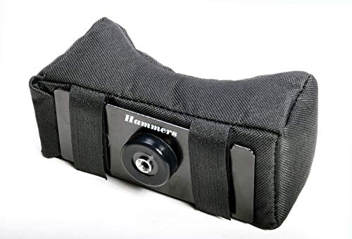 Hammers Soft Bean Bag V Mount Gun Rest Attachment with 1/4-20 and 3/8 Camera Thread for Positional Precision Tripod Shooting Sticks