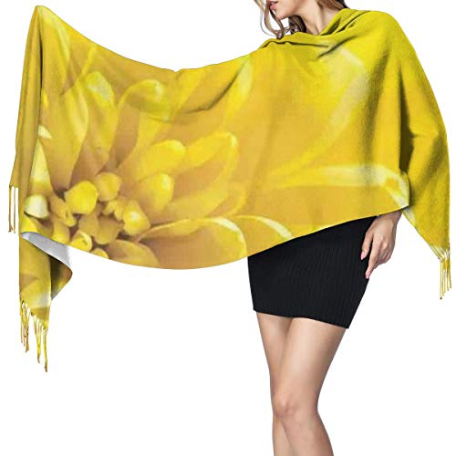 Womens Large Soft Cashmere-like Pashmina Shawls Wraps Scarf Vibrant Blooming Flower Close Up Bridal Botanical Nature Picture For Summer Home Print Winter Warm Tassel Shawl Scarves