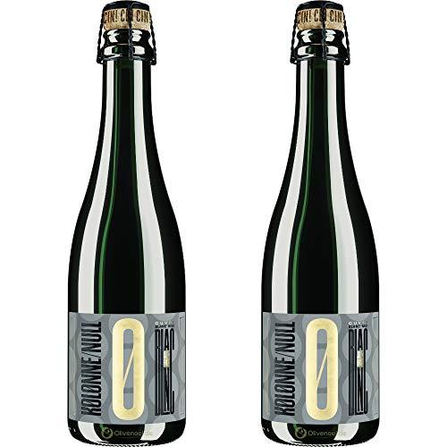 Kolonne Null - Prickelnd Cuvée Blanc No 01 - Schäumendes Getränk aus Alkoholfreiem Wein vom Weingut Freiherr von Gleichenstein - 2er Pack - 2x 375 ml
