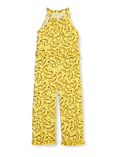 NAME IT Mädchen NKFFLORINE SL Box Jumpsuit, Aspen Gold, 134