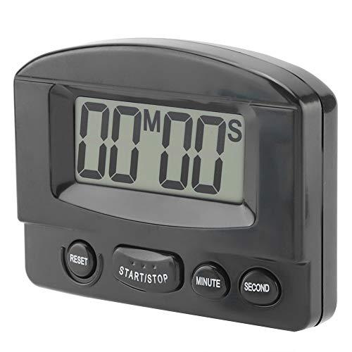 Fditt Timer Digitale da Cucina Portatile Orologio da cronometro con Timer per Il Conto alla rovescia Ampio Display LCD Uso Cucina con Magnete a Staffa