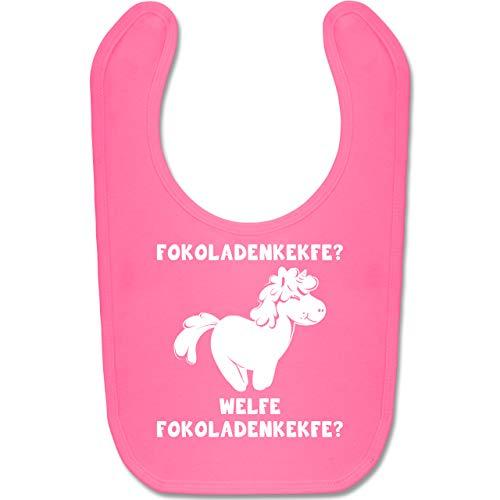 Shirtracer Sprüche Baby - Fokoladenkekfe Einhorn - Unisize - Pink - Statement - BZ12 - Baby Lätzchen Baumwolle