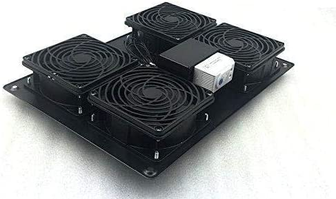 RAISING ELECTRONICS Rack Mount Temperature Control Server Fan Cooling System with 4 Fans 1U