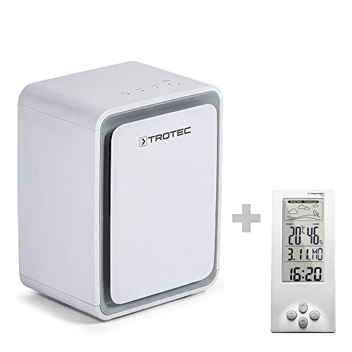 TROTEC Deumidificatore TTK 24 E per ambienti fino a 15 m² / 37 m³, deumidificazione di max. 10 litri/24h incluso un Termoigrometro BZ06