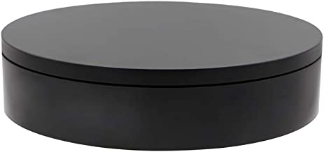 ComXim 110V Electric Rotating Turntable,7.87in(20cm) Diameter,Rotating by Random Direction, Applied to Product Photography, Still Life Photography, Product Display,Cake Display (Black)
