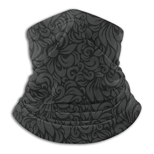 LENGDANU Lujo Floral Fondo Unisex Invierno Polar Cuello Calentador Polainas Hairband Tubo Frío Cara Térmica Cuello Bufanda Al Aire Libre Protección UV Fiesta Cubierta