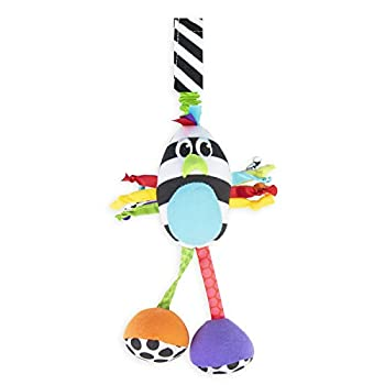 Sassy Boppin' Birdie | Developmental Plush Toy for Early Learning | High Contrast | Attaches to Baby Gear for Travel | for Ages Newborn and Up  80660