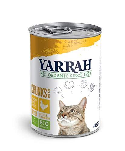 Bouchées Yarrah Bio Poulet - 12*405g - chat