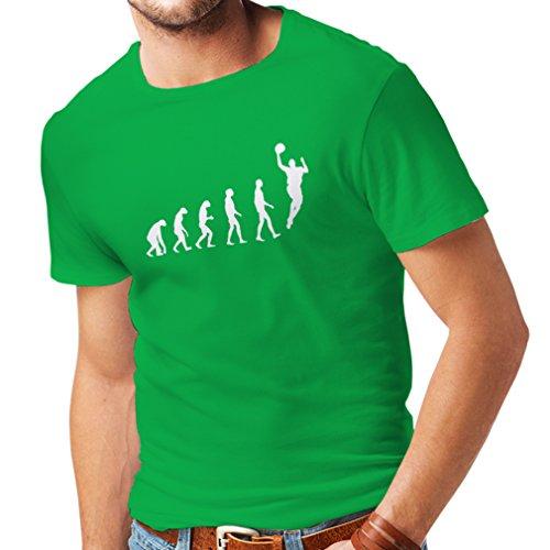 Camisetas Hombre evolución de Baloncesto - Canasta de la Calle, me Encanta Este Juego, Gran Fan de Regalo (XX-Large Verde Blanco)