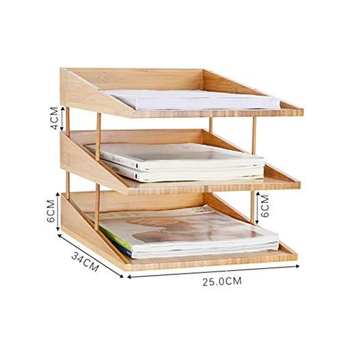 Rangement de Bureau Compartiments de Rangement Bac à courrier, Système de classement à 3 Compartiments, Organisateur de Papier Porte-Document de classement Système d'organisation de Bureau P