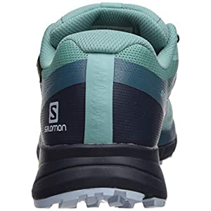 Salomon Women's Sense Ride 2 GTX Invis Fit Trail Running Shoes, Nile Blue/Navy Blazer/Mallard Blue, 11