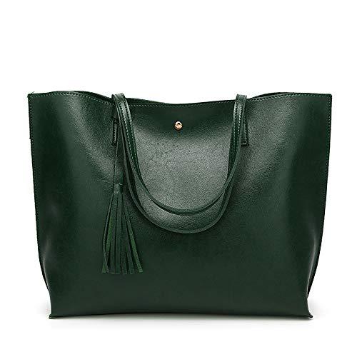 nicole & amp; doris borsa da donna borsa a tracolla in pelle pu borsa a tracolla moda grande borsa grigia