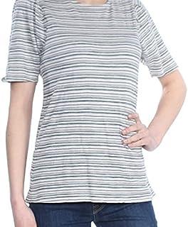 Lucky Brand Women's STRIPE PUFF SLEEVE TOP Shirt