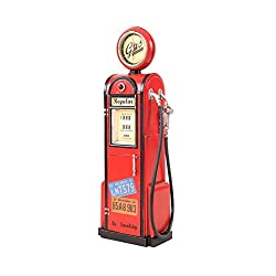 Old Modern Handicrafts Gas Pump with Clock Collectible, 1:4-Scale