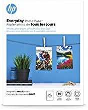 HP Photo Paper, Everyday Glossy, (5x7 inch), 60 sheets