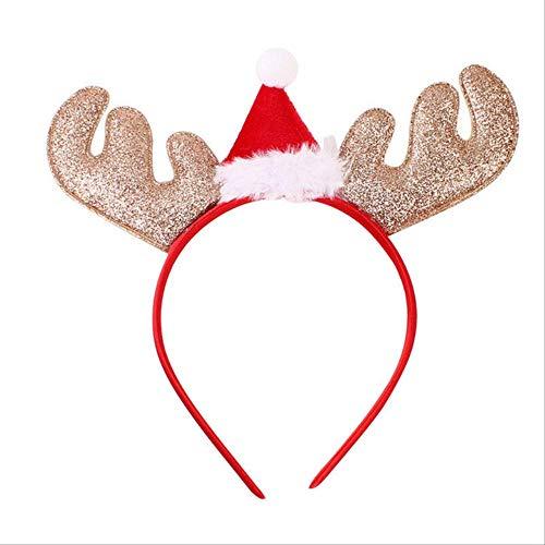 No brand schattige Xmas hoofdband Kerstmis hertengewei kostuum oor haarband haaraccessoires zoals afgebeeld kerstmuts