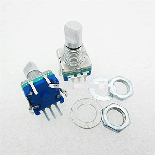 Janedream Owner Potentiometer - Interruptor de codificación con codificador giratorio (5 unidades, 15 mm, EC11, potenciómetro digital con interruptor, 5 pines)