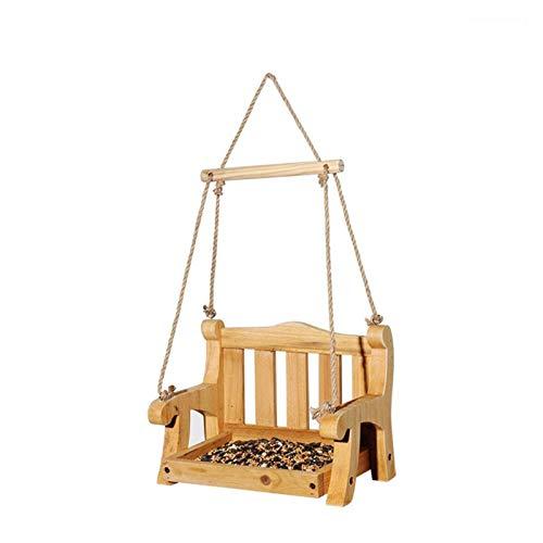Comedero para Pájaros Silla de súbita Alimentador de pájaros Colgando Alimentador de pájaros Pájaro salvaje Pájaro Salida de madera de la estación de alimentación para el patio al aire libre yarda sal