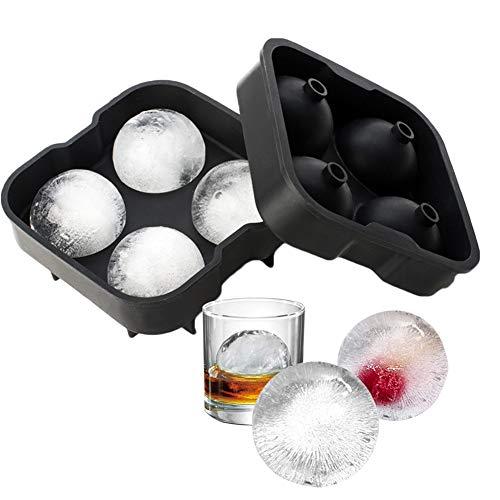 Cubitera Hielo, Moldes y bandejas para hielo, Moldes para Cubitos de Hielo, reutilizables Molde Silicona Sin BPA, para Congelarse Alimentos para Bebés, Cola,Cócteles Cola Whisky (negro)