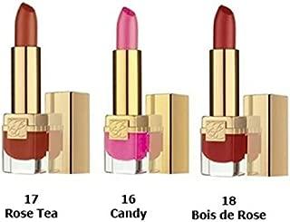 Estee Lauder Travel Exclusive 3 Pure Color Long Lasting Lip Jewels: 3x Mini Lipstick (#16 Candy, 17 Rose Tea, 18 Bois De Rose)