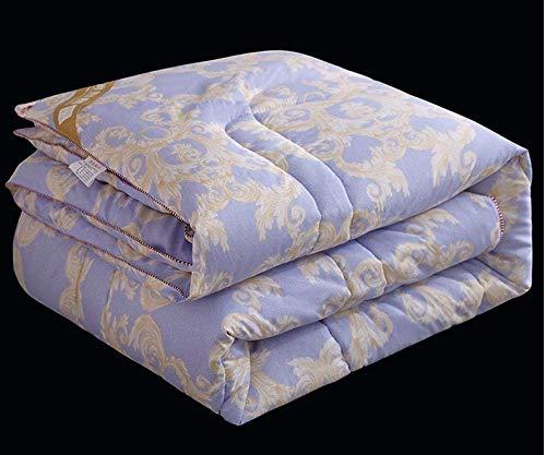 WLD Colcha de verano climatizada para cama individual, doble de primavera y verano, 150 x 200 cm, color agua, verde, morado, 220 x 240 cm