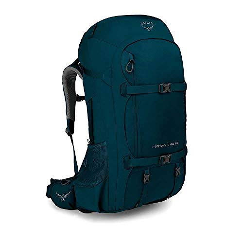 Osprey Packs Farpoint Trek 55L Travel Pack Petrol Blue, One Size