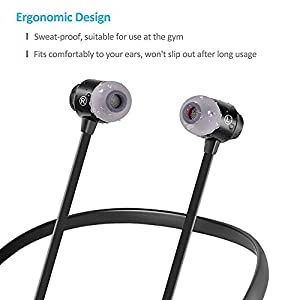 Bluetooth Headphones v5.1 Magnetic Neckband Earbuds with Microphone Auto Pairing 12H Playtime HD Sound Stereo Bass Sweatproof
