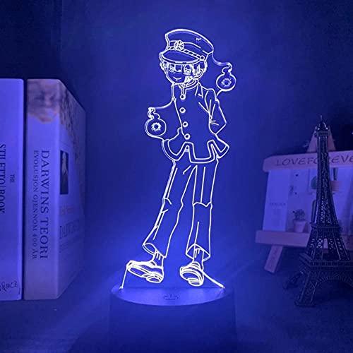Luces De Anime 3d Led,Anime Tocador Encuadernado Hanako Kun Led Figura Modelo Luz De Noche,LáMpara 3d DecoracióN De Dormitorio Amantes De Anime Regalos De CumpleañOs Luces De Noche De Bricolaje