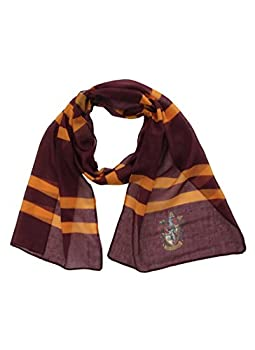Harry Potter Gryffindor House Lightweight Scarf for Adults and Kids Red