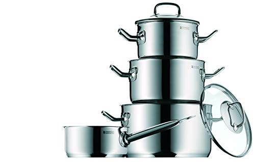 WMF Profi Plus - Batería de cocina de 4 piezas de acero ino