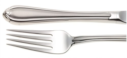 Lenox Gorham Unisex Melon Bud Frosted 5 Piece Place Setting Stainless, Silver - -  6017354