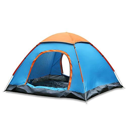 Longhui Outdoor Waterbestendig Automatische Instant Setup Twee Deuren 3-4 Person Camping Tent met Luifel