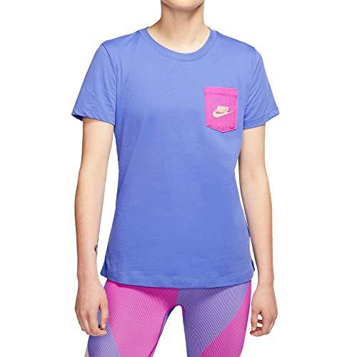 NIKE W NSW tee Icon Clash Short Sleeve T-Shirt, Mujer, Sapphire, M