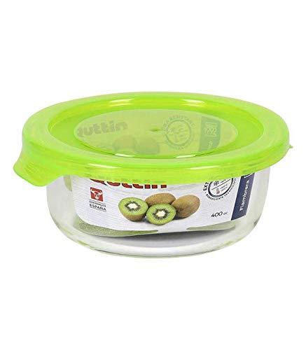 Quttin Lunchbox, rund, mit grünem Deckel, 13,5 cm, Mehrfarbig, Einheitsgröße