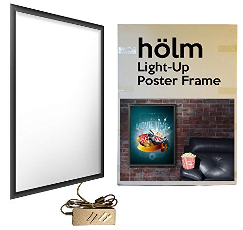HÖLM Backlit Illuminated Movie Poster Frame to Light up Standard 27 x 40 Inch Double Sided (DS) Movie Posters.