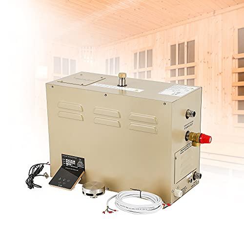 Hanchen 3KW Generatore di Vapore per Sauna Bagno Turco Doccia 2m³ Temperatura Regolabile 35-55 ℃ Timer 30min-12h 220V CE