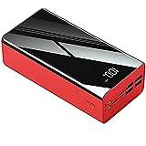 PIANAI Teléfono portátil 50000mAh Power Bank/USB C Bancos de energía/la batería Externa portátil/Compatible con un 99% de Equipos electrónicos en el Mercado,Rojo