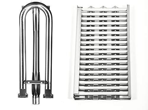 Replace parts Replacement for DCS 27 Series, 27DBQ, 27DSBQ, BGA36-BQAR, BGA36-BQARL, 30/36 / 48 Inch Gas Grill Models (Heat Plates with 18 Ceramic Rods & Burner) Grill Heat Plates