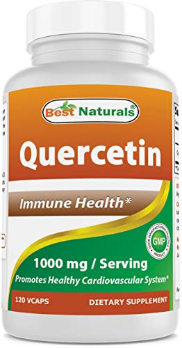 Best Naturals Quercetin 1000 mg/Serving Veggie Capsules - Immune Health - 120 Count