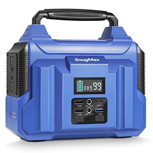 SnugMax Vickers 200 Portable Power Station with 222Wh Backup Lithium Battery, Solar Generator with...