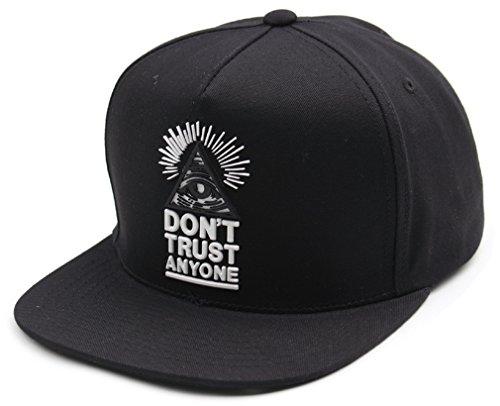 Sujii Illuminati Triangle Baseball Cap Casquette de Baseball Trucker Hat Snapback Cap/Black
