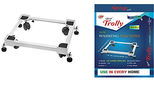 TAFTA Big Trolly Top Loading Washing Machine Heavy Dutyd stand For Washing Machine & Refrigerator Stand with Stopper etc for every top loading washing machine