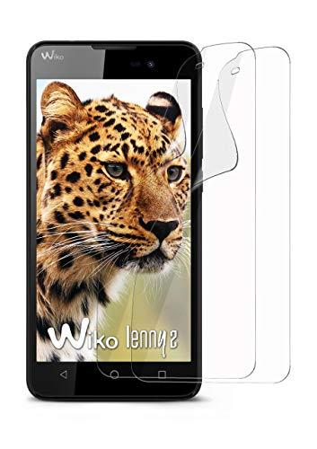 moex 2X Wiko Lenny 2 | Schutzfolie Klar Bildschirm Schutz [Crystal-Clear] Screen Protector Display Handy-Folie Dünn Bildschirmschutz-Folie für Wiko Lenny 2 Bildschirmfolie