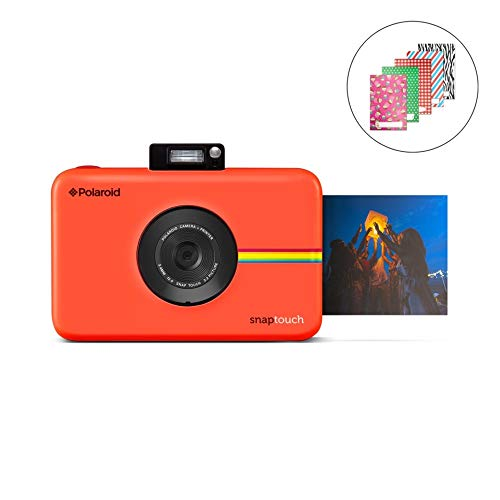 Zink Polaroid SNAP Touch 2.0 – 13MP Portable Instant Print Digital Photo Camera w/ Built-In Touchscreen Display, Red