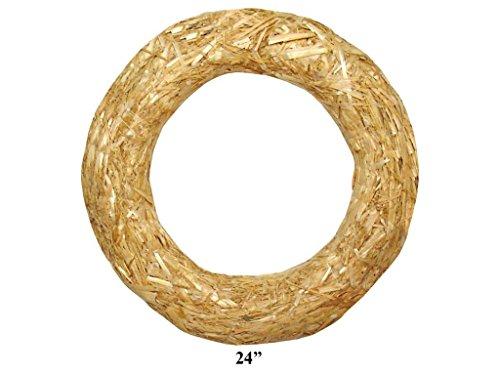 Floracraft Straw Wreath, 24-Inch, Natural