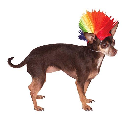 Rubie's Rainbow Mohawk Pet Wig, Small/Medium