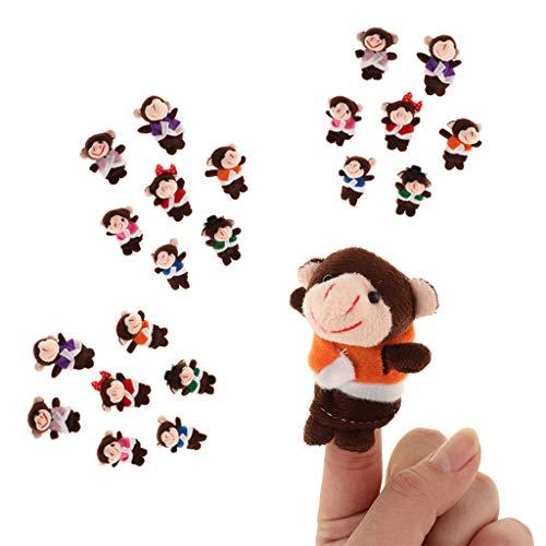 Non-brand 21 Unidades Monos Peluche Manos Marionetas