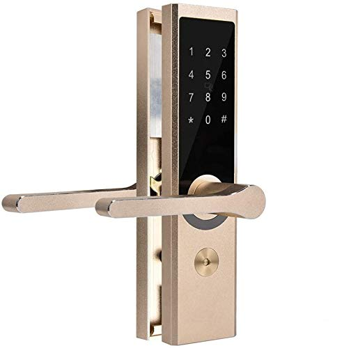 スマートドアロック、暗証番号/カード/APP/鍵解錠可能 WiFi BT暗号リモートラバー錠 玄関、浴室、オフェンス、寝室 盗難防止 入り口ゲートロック ドアの厚さ40mm - 120mm最適